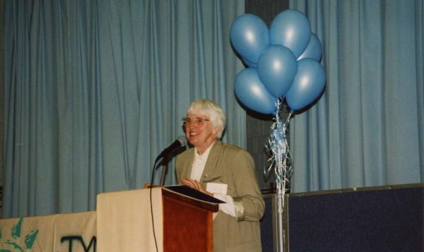 Sister Kieran Sawyer lecturing